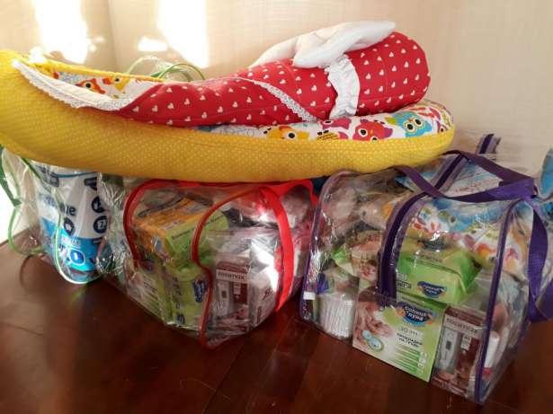 три сумки в роддом