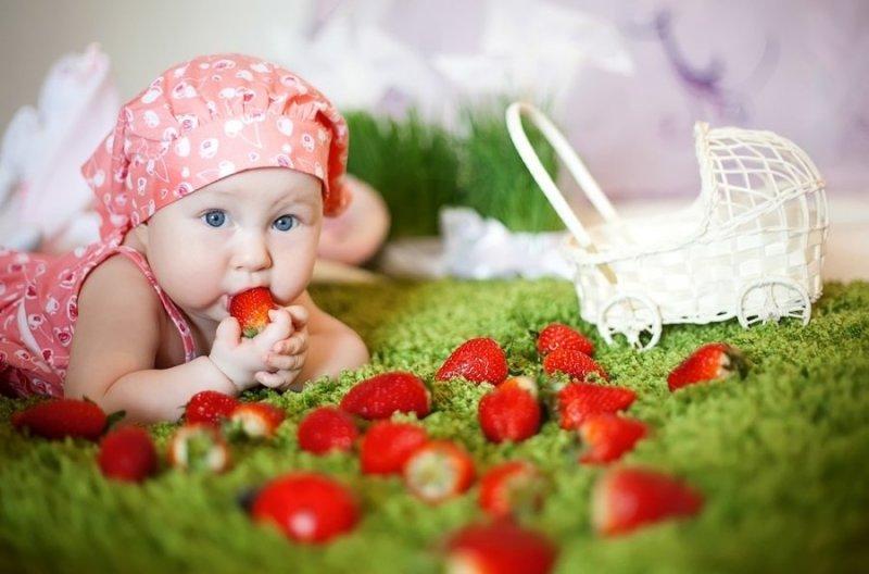 рецепты клубника детям
