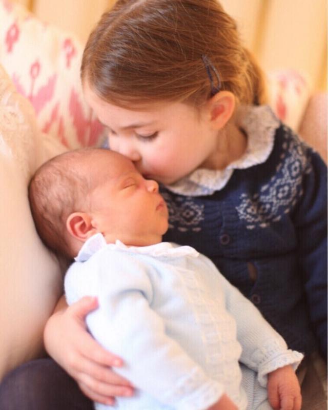 Принцесса Шарлота с братом Луи