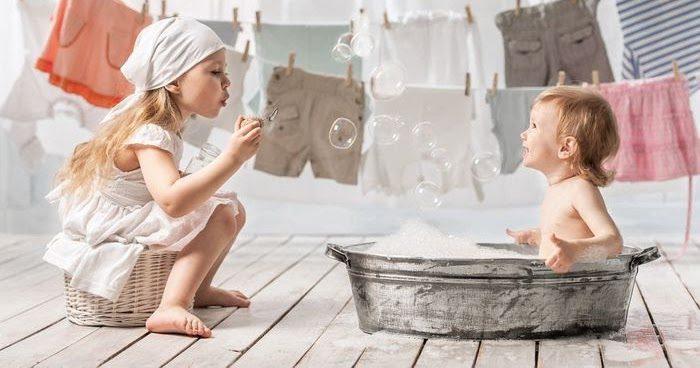 как стирать детское