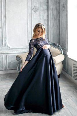 платье в пол на новый год
