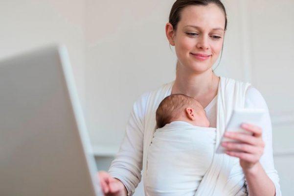 заказ через интернет помогает маме в декрете сэкономить время
