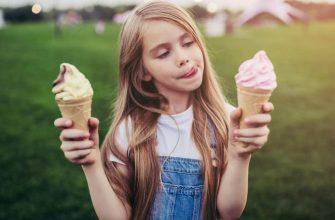 мороженое в жару ребенку