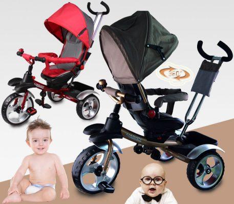 преимущества трехколесных колясок