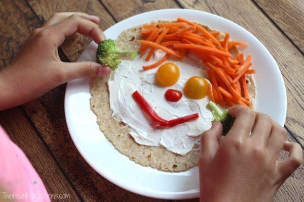 подача овощных блюд для детей