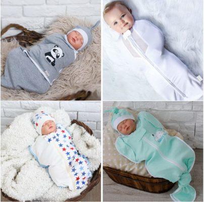 пеленка кокон для новорожденного, виды