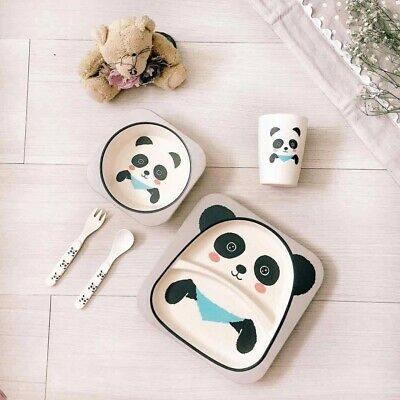 набор детской посуды из бамбука