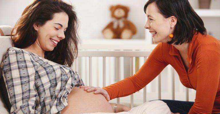 беременная и доула