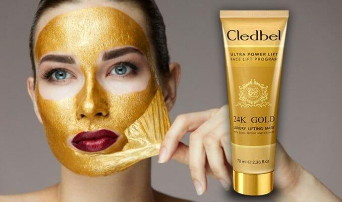как наносить маску Cledbel 24K Gold