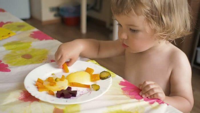детские салаты, польза