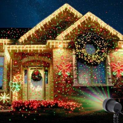 лазерная уличная подсветка