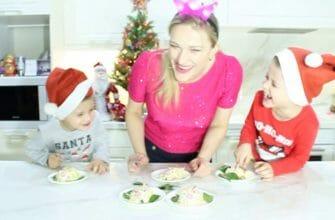 детские салаты на Новый год