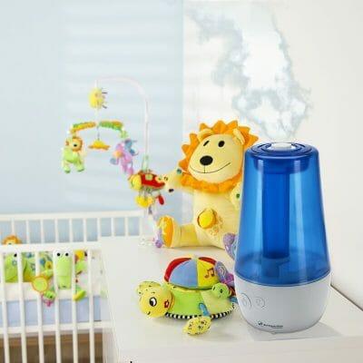 увлажнение воздуха в детской комнате
