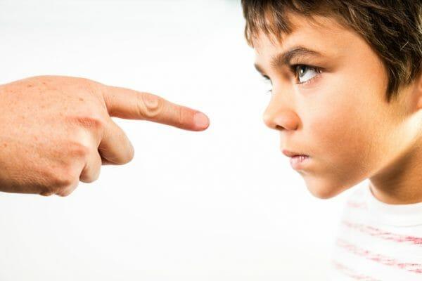 ребенок не реагирует на наказание